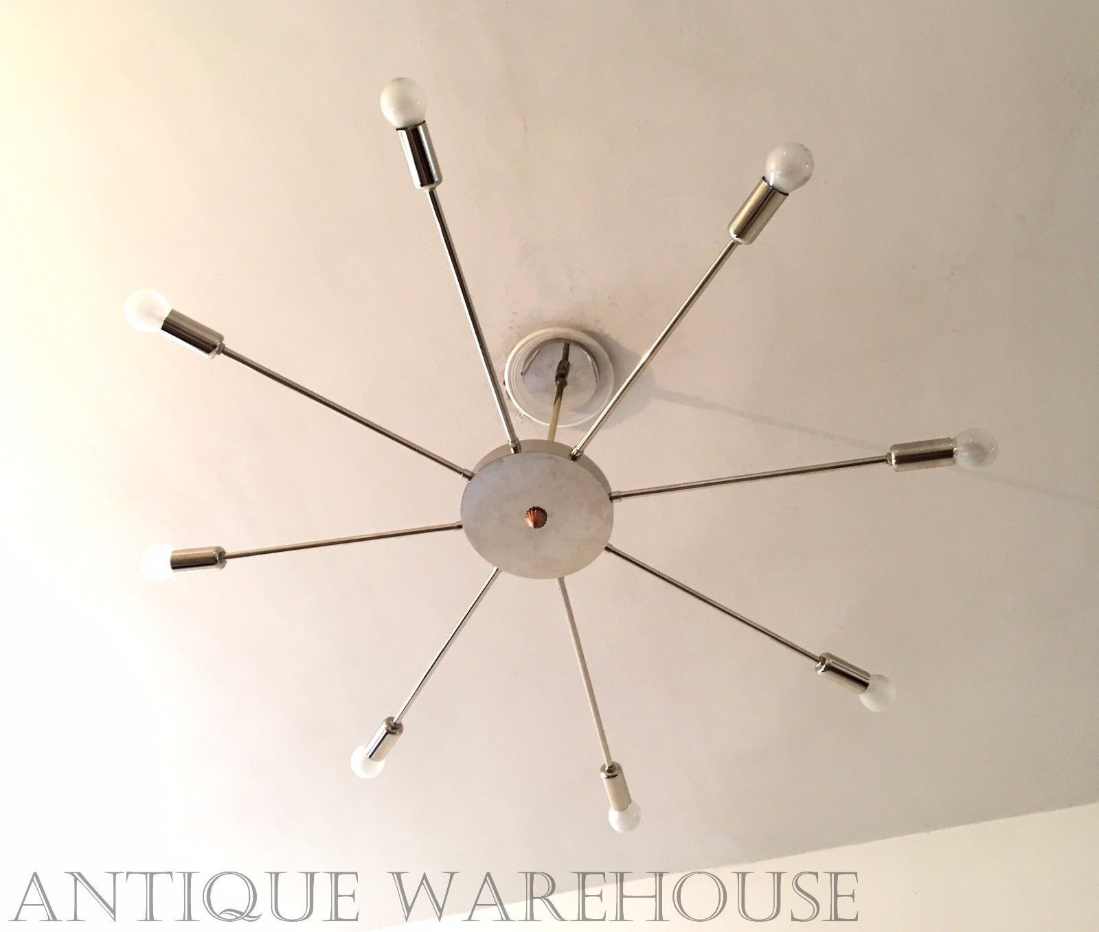 8 Arms Brass Chrome Mid Century Chandelier Modern Handmade Sputnik Lamp Light for sale  USA