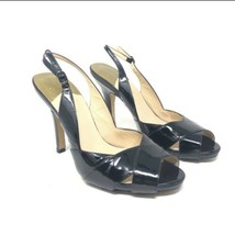 Cole Haan Size 9B Patent Leather Slingback Open Toe Pumps Black - $24.89