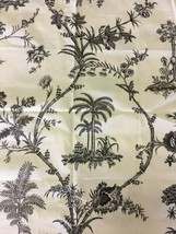 Brunschwig & Fils West Indies Toile Print Charcoal and Ivory Fabric 2 yards - $190.00