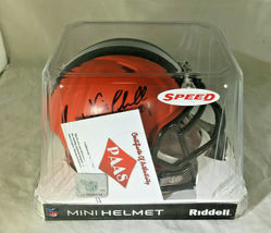 NICK CHUBB/ AUTOGRAPHED CLEVELAND BROWNS RIDDELL BRAND MINI HELMET / COA image 8