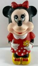 1986 Vintage Walt Disney Company Tootsietoy Minnie Doll Rubber Plastic Toy  - $12.86