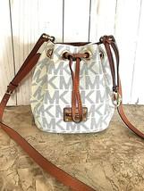 Michael Kors logo Small Bucket/drawstring shoulder Bag vanilla  - $58.41