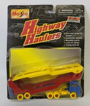 Vintage 1996 Maisto Highway Haulers Double Decker Car Hauler #15021, Sealed - $12.00