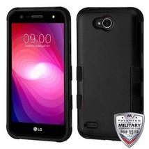 MyBat Cell Phone Case for LG X Power 2 - Natural Black/Black - $2.51