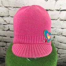 The Children's Place Girls Sz 10-14 Hat Pink Brimmed Beanie Warm Winter Cap - $19.79