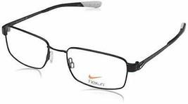 NEW FLEXON NIKE 4272 004 Satin Black & Wolf Grey Eyeglasses 53mm with Case - $98.95