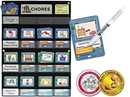 NEATLINGS Chore Chart System | 1 Child | 80+ Chores | Teal & Dark Blue C... - $38.95