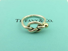 48dc0e73d Authentic TIFFANY & CO Sterling Silver 18K Gold Love Knot Ring Size 5 -  $95.20