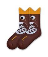 Owl Bites K Bell Crew Socks Brown New Women Size 9-11 Hoot Hoot Fashion - $7.95