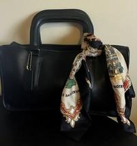 Vintage 70's NYC COACH Bonnie Cashin Era Black Leather Satchel Handbag - $74.25