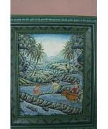 Bali Harvest Ubud School Artist Original Miniature Canvas Painting Signe... - $142.49