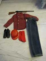 1964 Mattel BARBIE-KEN #1409 Tm Goin' Hunting Outfit Excellent Complete !! - $79.15