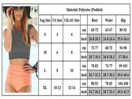 Women Striped High Waist Bikini Set Padded Tank Beach Swimsuit Swimwear Swimming image 4
