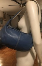 Tignanelli Tig & Co Genuine Soft Leather Handbag Shoulder Bag Teal Blue - $18.00