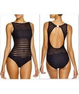 Womens Lauren Ralph Lauren Ottoman Mesh High Neck Cut-Out Back 1-Piece Swimsuit  - $149.99
