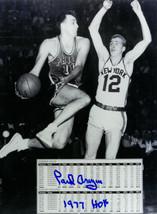 Paul Arizin signed Philadelphia Warriors 8x10 Photo 1977 HOF (vs New Yor... - £17.53 GBP