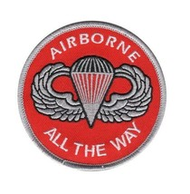 USAF Army Airborne All The Way Patch  3.25'' x 3.25'' - $13.85