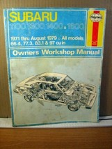 Haynes Owners Workshop Manual Subaru 1971-1979 1100 1300 1400 1600 (1980... - $8.99