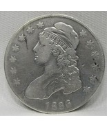 1836 Capped Bust Half Dollar VG Coin AE128 - $63.79