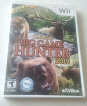 Nintendo Wii Cabellas Big Game Hunter 2012 Video Game Nice Shape - €6,59 EUR
