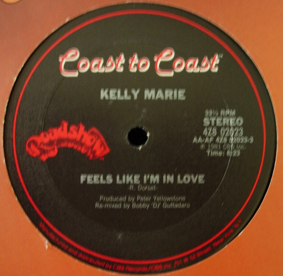 Kelly Marie - Feels Like I'm In Love / NY at Night - Coast to Coast 4Z8 02023