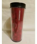 2011 Starbucks Coffee Tumbler Travel Mug Red Holographic 16 oz  - $16.82