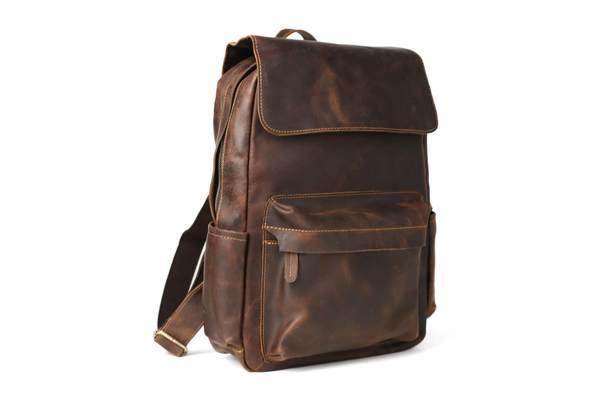 Sale, Vintage Handmade Leather Backpack, Men's Leather Backpack, Travel Backpack image 7
