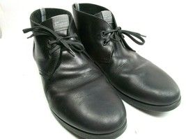 Salvatore Ferragamo World  Mens Black Leather Chukka Ankle Boots Size US... - $88.11