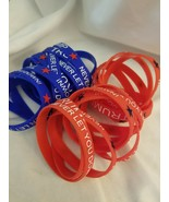 Trump Never Let You Down Silicon Bracelet MAGA 2020 - Red White and Blue... - $2.75