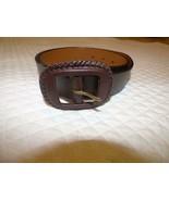 $53.00 Ralph Lauren Whip Stitch buckle Women's Leather belt, brown, Size S - $12.52