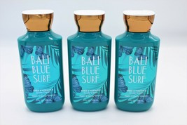 Bath & Body Works Bali Blue Surf Body Lotion Vitamin e Shea Set of 3 - $29.99
