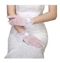 The Bride Marriage Yarn Dress Lace Short Gloves Wedding Gloves White
