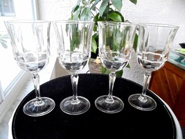 "Set of 4 Dinner Water Glasses 7 7/8"" Tall - $23.76"