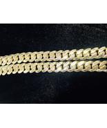 11.05mm 14K Oro Amarillo Sólido 81.3cm Pesado Miami Cubano Eslabón Hombr... - £8,148.26 GBP