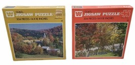 Whitman Guild Autumn Village, Birch & Branchwater 304 Pc New Sealed Puzzles  NOS - $44.44