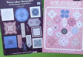 Hardanger Embroidery Keepsake Pattern Book Lot - Doily Bell pull Suncatc... - $27.72