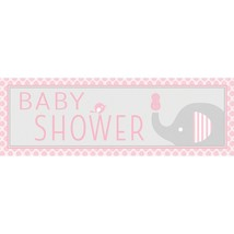 Little Peanut Girl Giant Party Banner 5 ft Pink Elephant Baby Shower - $7.31