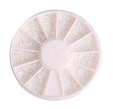 3 Packs Beautiful Beads Pattern Nail Art Decoration White,Style 1 image 2