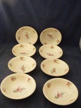 "8 Homer Lauglin Priscilla Eggshell Nautilus 5.25"" Fruit Dessert Bowls - $29.95"