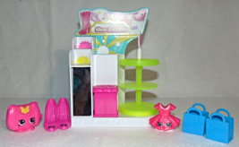 Shopkins Shoe Dazzle & 3 Shopkins & 2 bags - $13.00