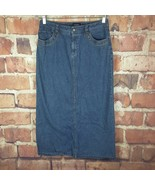 Sonoma Womens Denim Skirt Size 8 Petite Long Slit Full  - $16.83