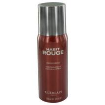 Habit Rouge Cologne By  GUERLAIN  FOR MEN  5 oz Deodorant Spray - $48.30