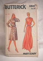 Butterick 3547 Sewing Pattern Size 18 Misses Dress Fast & Easy - $6.92