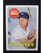 1969 Topps Baseball #500b Mickey Mantle [New York Yankees] WL Reprint - $3.25