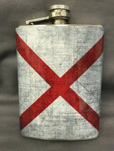 Alabama State Flag Flask 8oz Stainless Steel Drinking Whiskey Clearance ... - $9.90