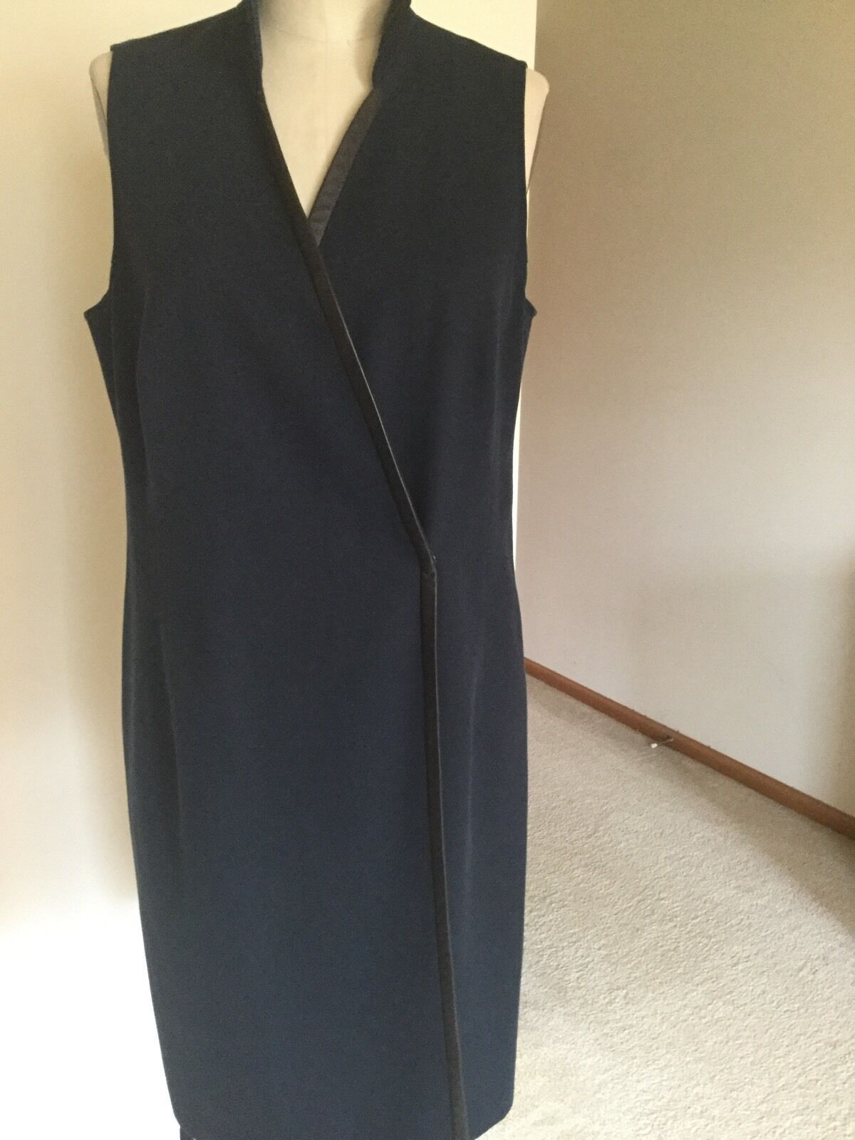 Primary image for Dress,US Size 10,Black,Polyester,Sleeveless,,Armani Collezioni,Italy,