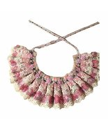 Floral Retro Style Violet Lace Collars Beads Handmade Cat/Dog Necklace 8... - $16.60