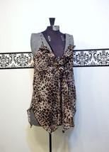 1980's Cheetah Print Baby Doll Chiffon Nightie Large / XL by Inner Most,... - $39.99