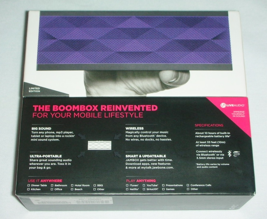 Amazon.com: Jawbone JAMBOX Wireless Bluetooth Speaker ... |Jawbone Speaker Purple