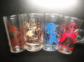 L'il Abner Drinking Glass 1949 UFS Lot of 4 Daisy Mae Polecat Jones Fede... - $19.99